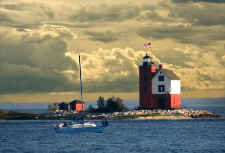 Passing The Harbor Light