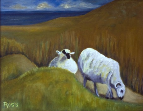 2009-0515-IrelandSheep-12X14-Oil-BWR