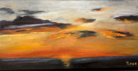 2011-0211-SunsetOverTheBay-8990-10X20-Oil-CWR