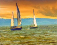 2011-0804-RunningDownwind-NuSky-SmearyBristle-MorGlo-11X14-EfexPro-CWR