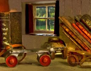 2011-0122-RollerSkates-Window-8875-VanGoghSmearyBristle-11X14-CWR